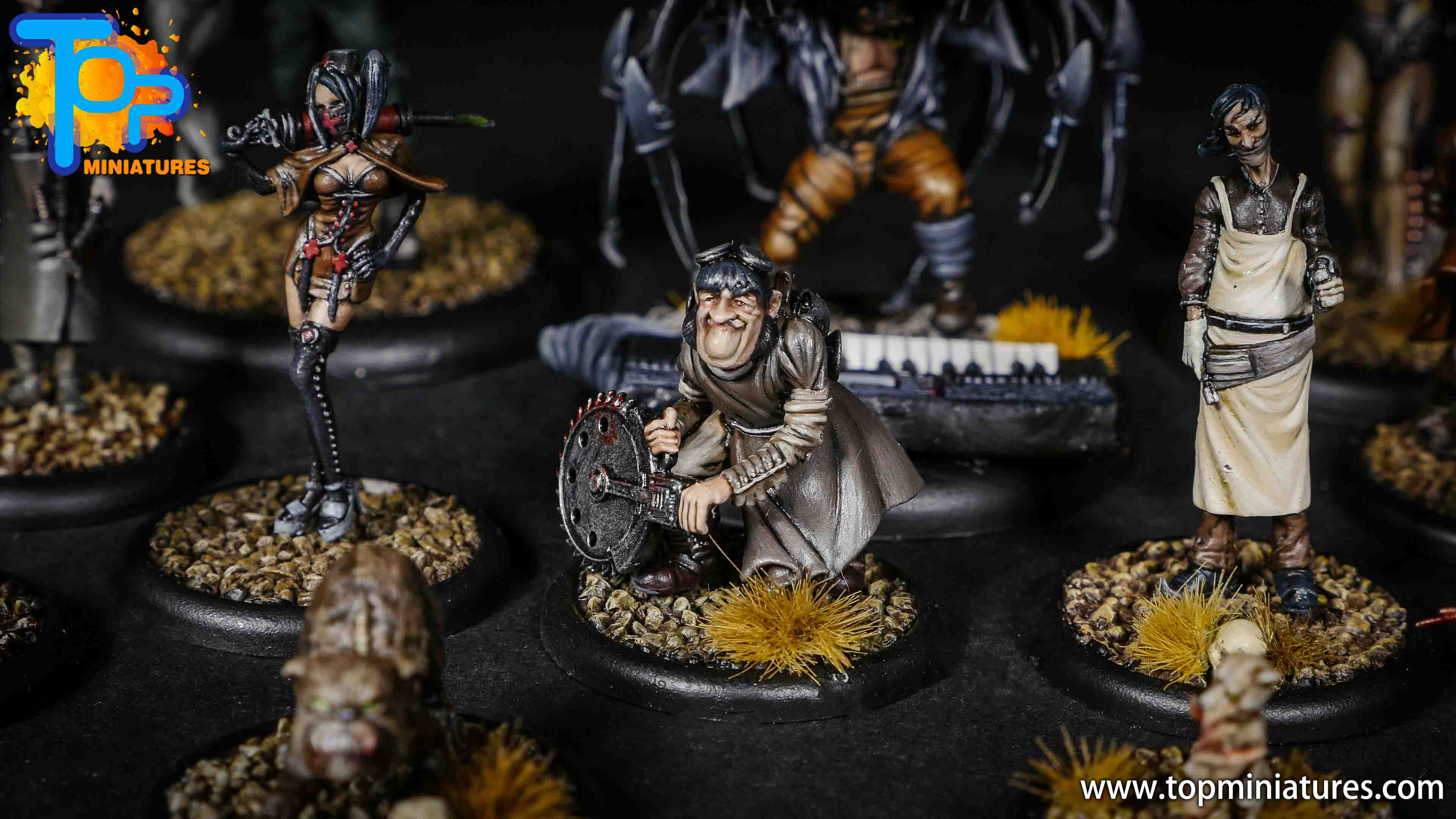 Malifaux Resurrectionists Dr McMurning crew (2)