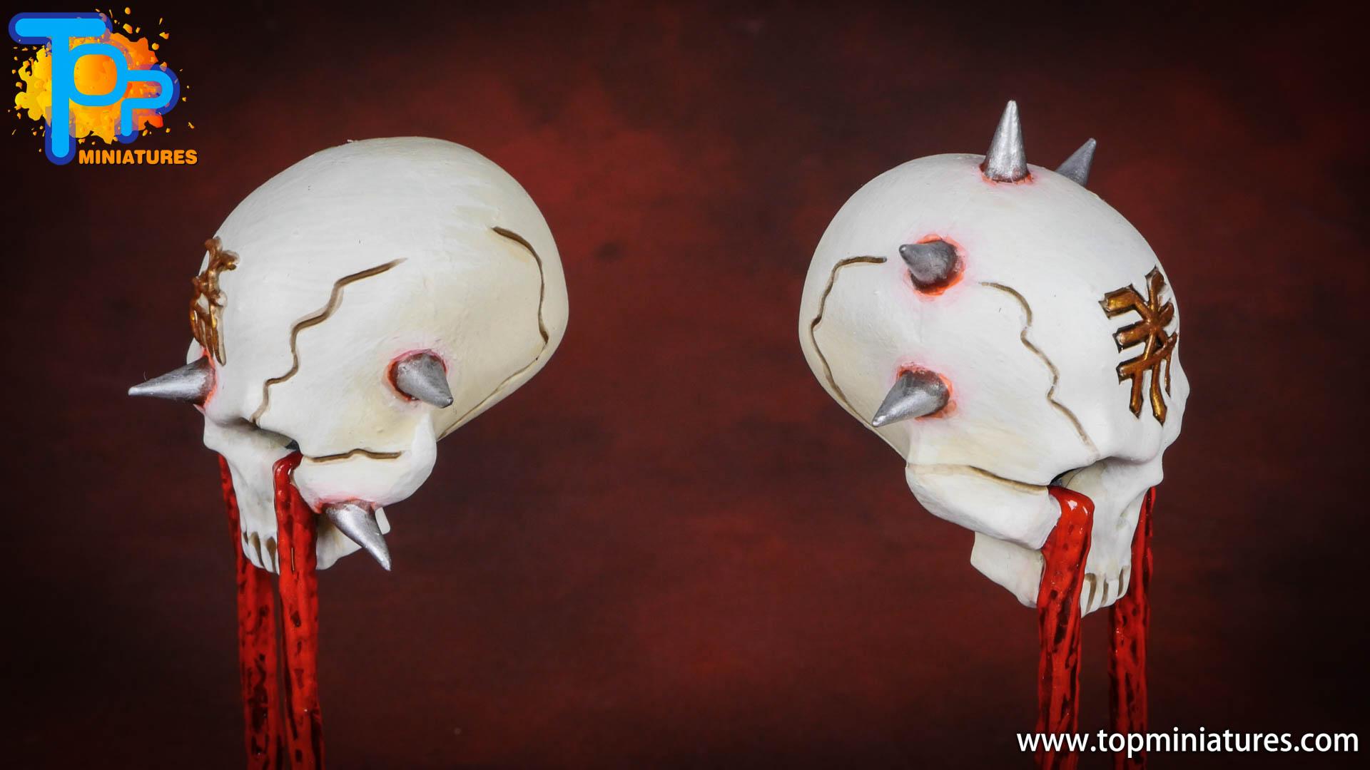 Black legion painted hexgorger skulls (1)