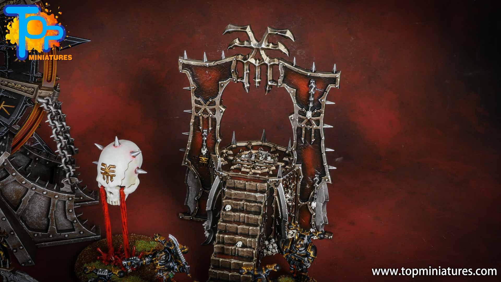 Black legion painted skull altar (2)