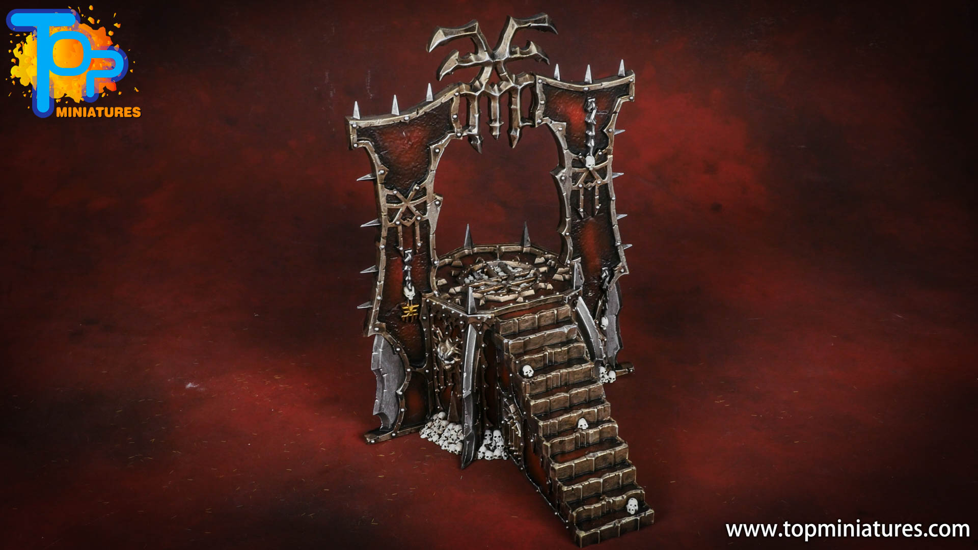 Black legion painted skull altar (3)