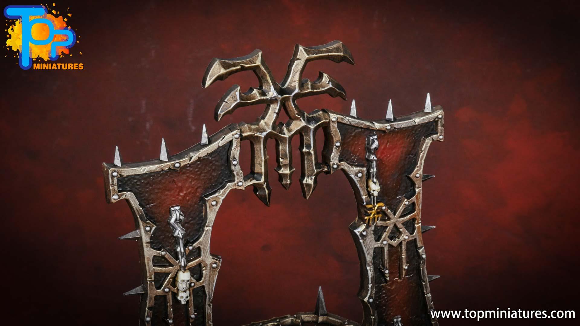 Black legion painted skull altar (5)