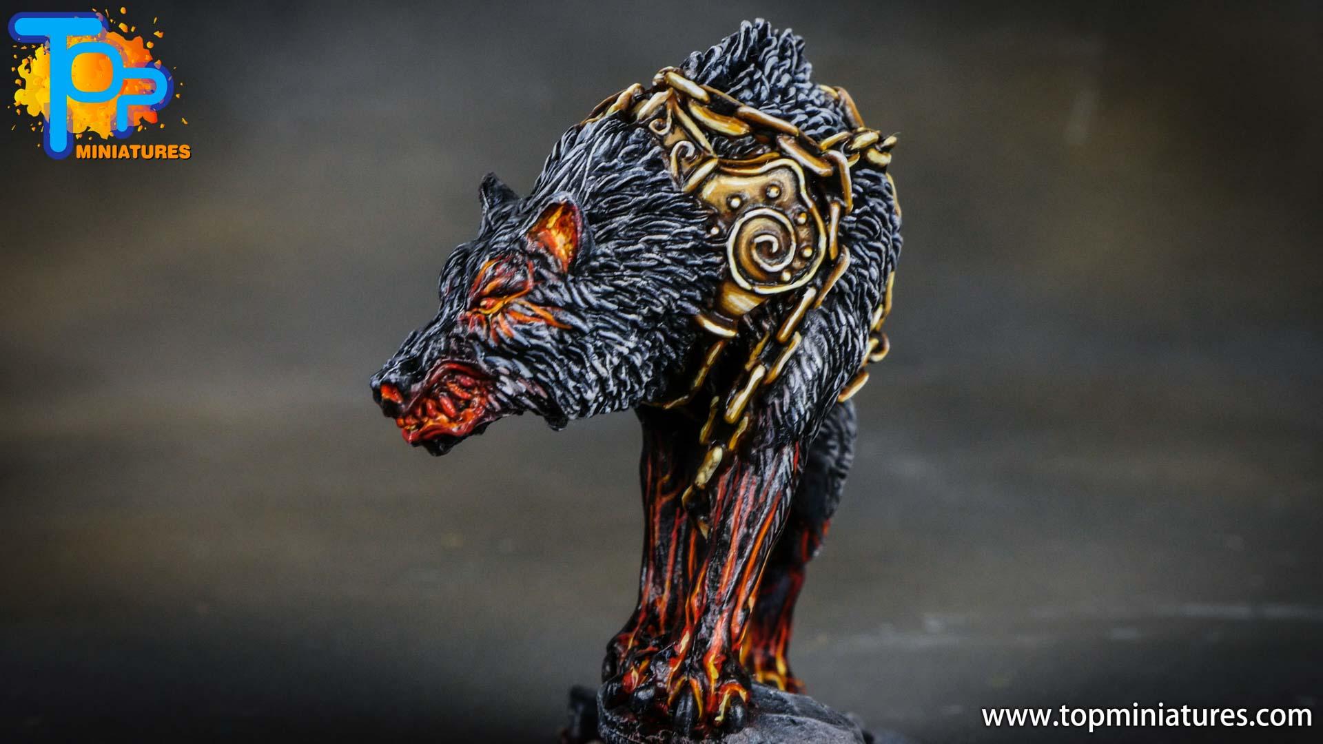 Blood rage painted fenrir monster (5)