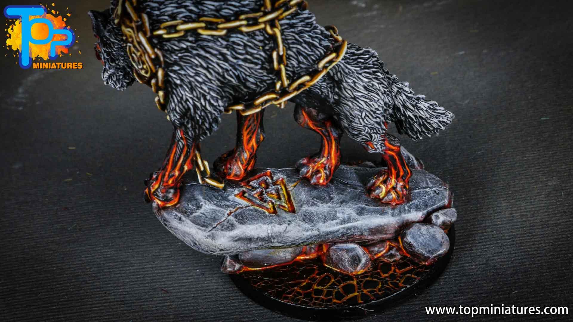 Blood rage painted fenrir monster (7)