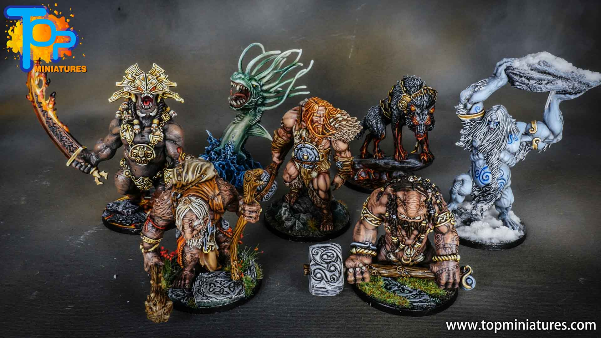 Blood rage painted monsters