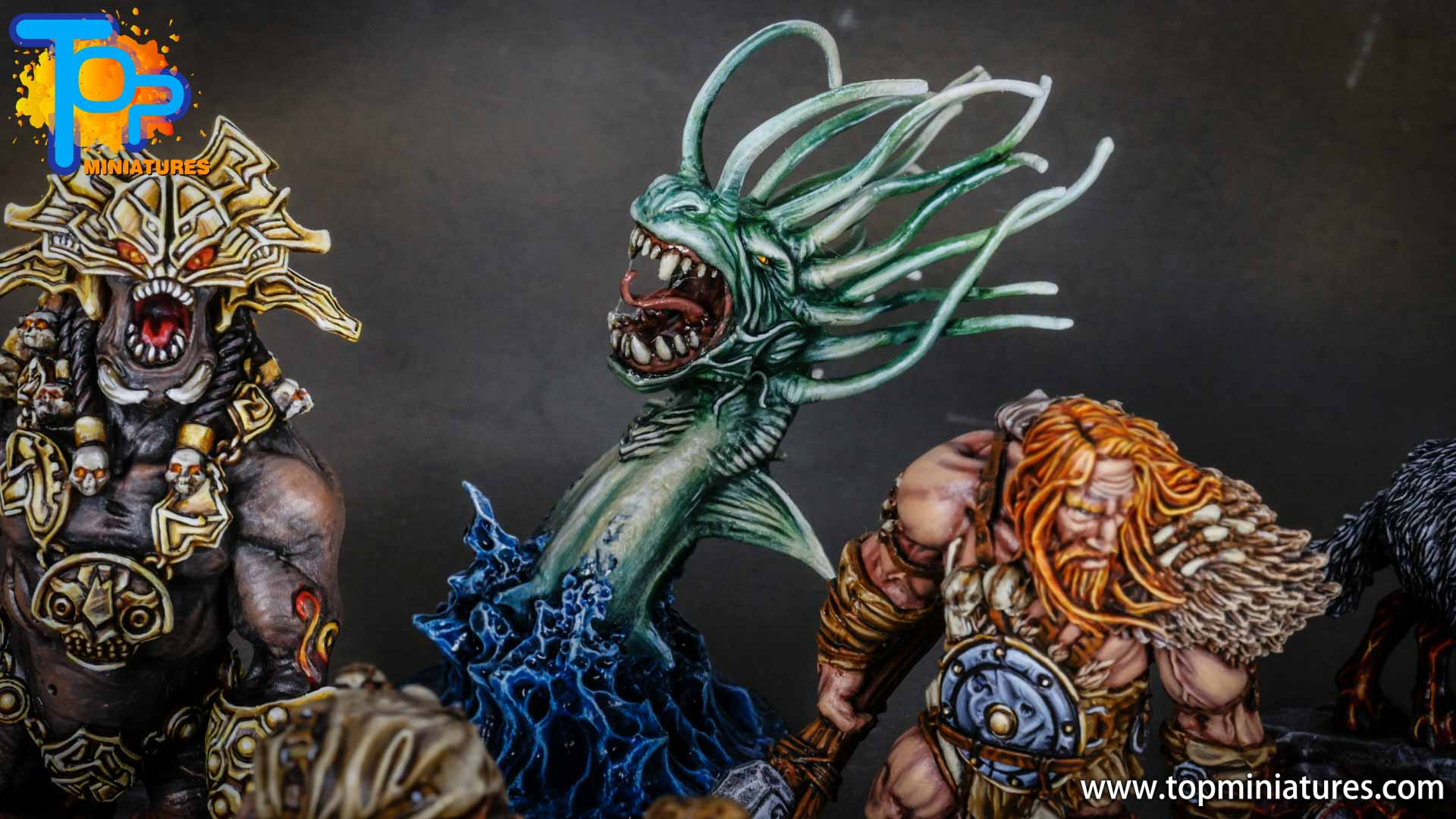 Blood rage painted sea serpent