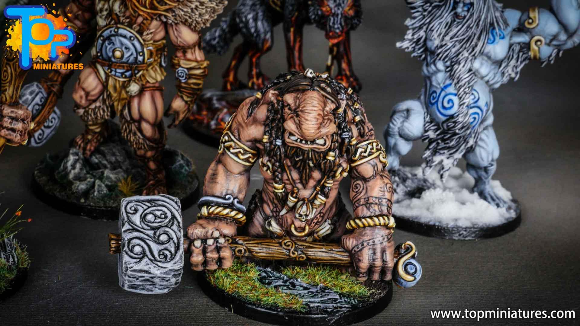 Blood rage painted troll