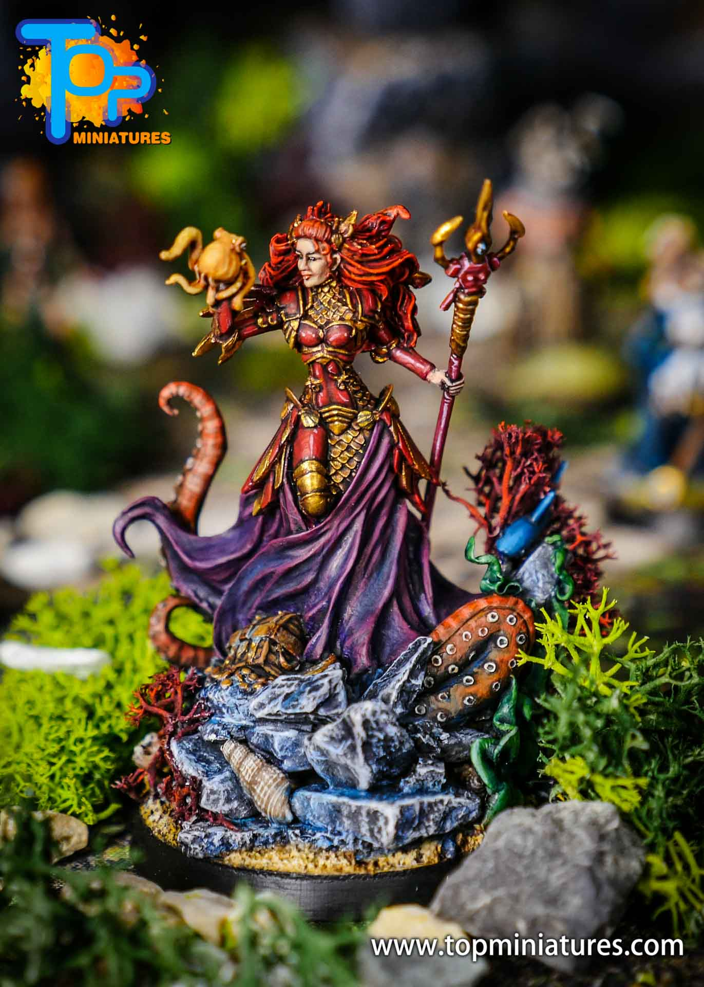 D&D commission painted miniature Marike (1)