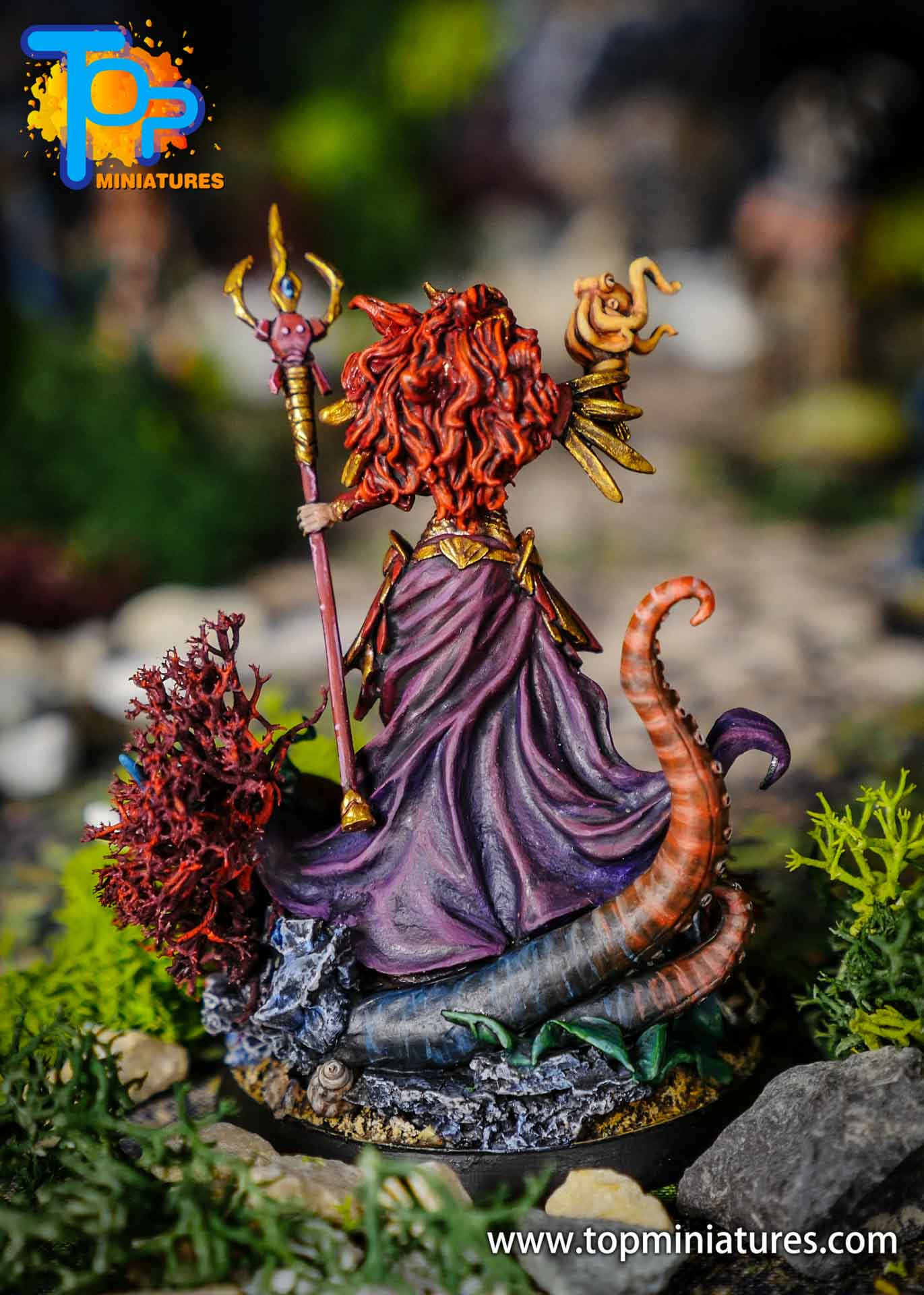 D&D commission painted miniature Marike (2)