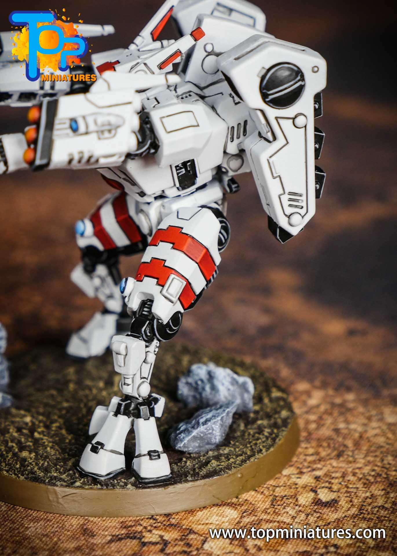 Tau Empire red white commander (1)