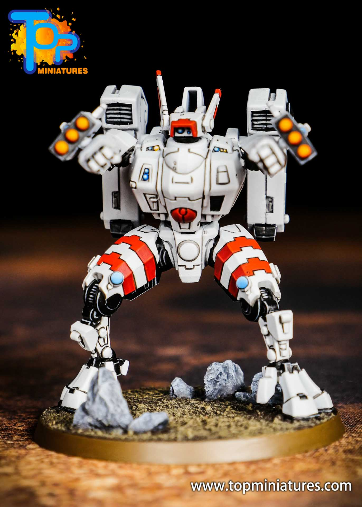 Tau Empire red white commander (2)