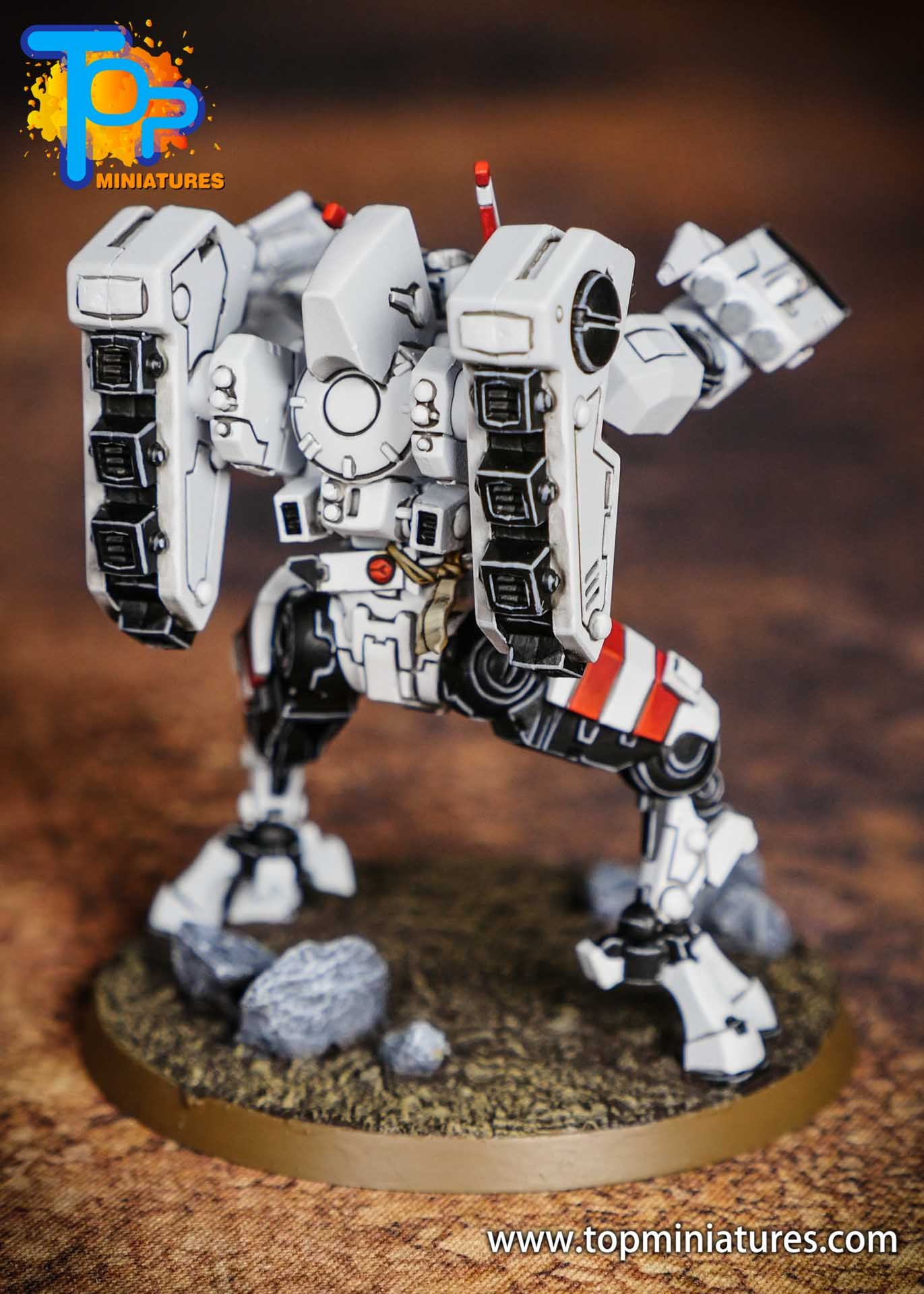 Tau Empire red white commander (4)