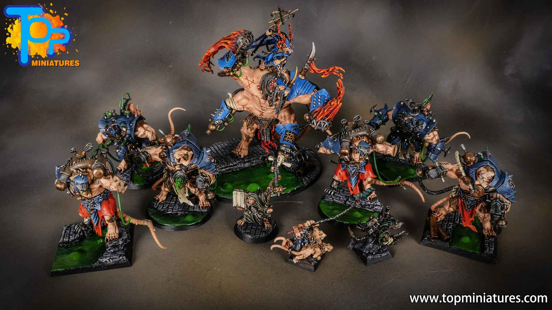 age of sigmar painted skaven army