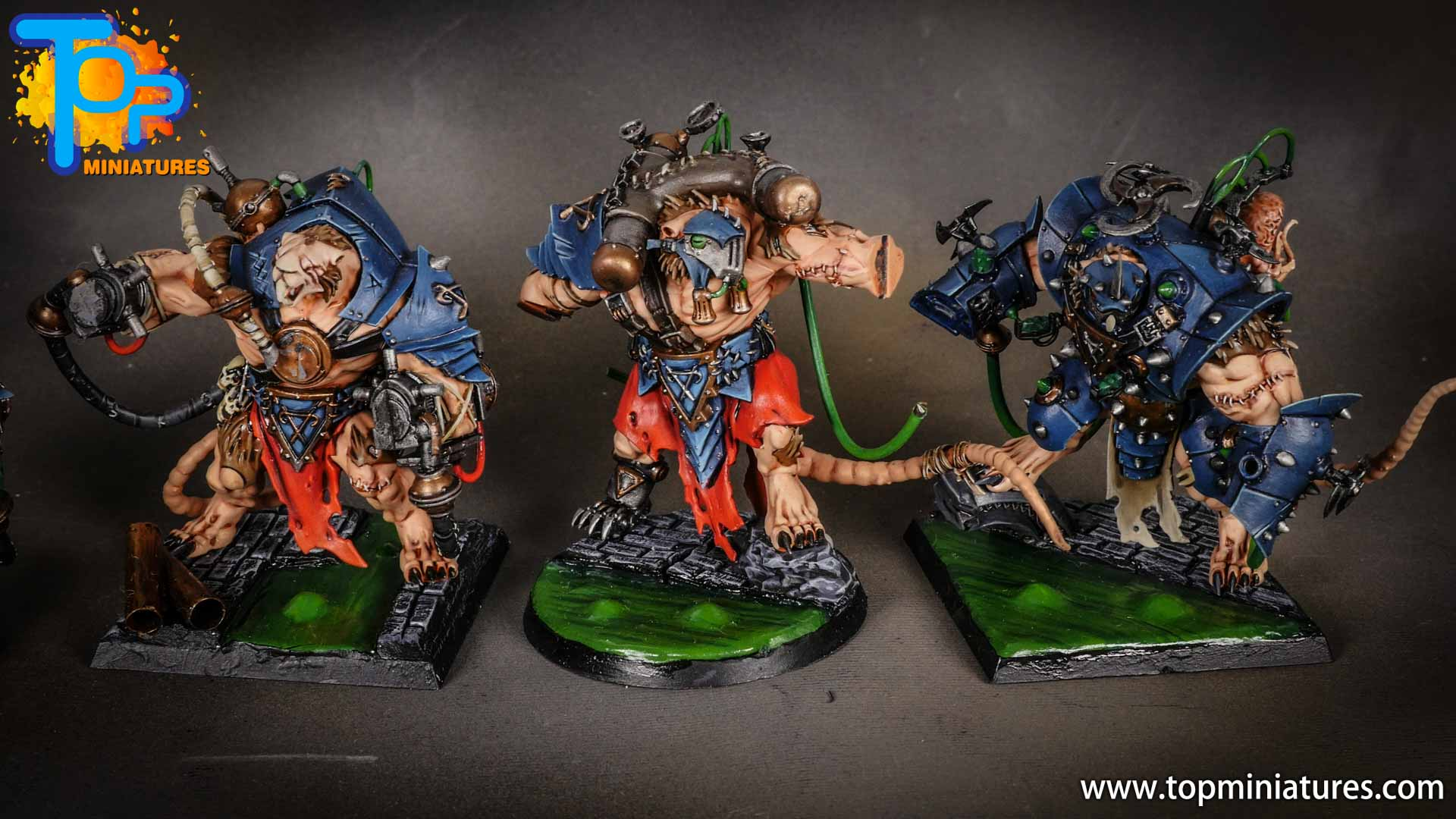age of sigmar skaven painted stormfiends (5)