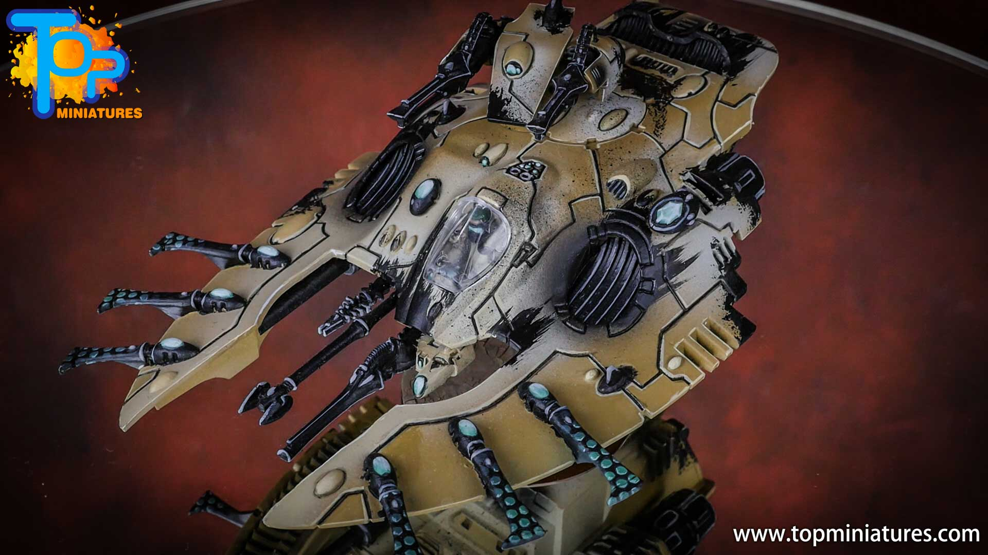 eldar painted wave serpent (6)