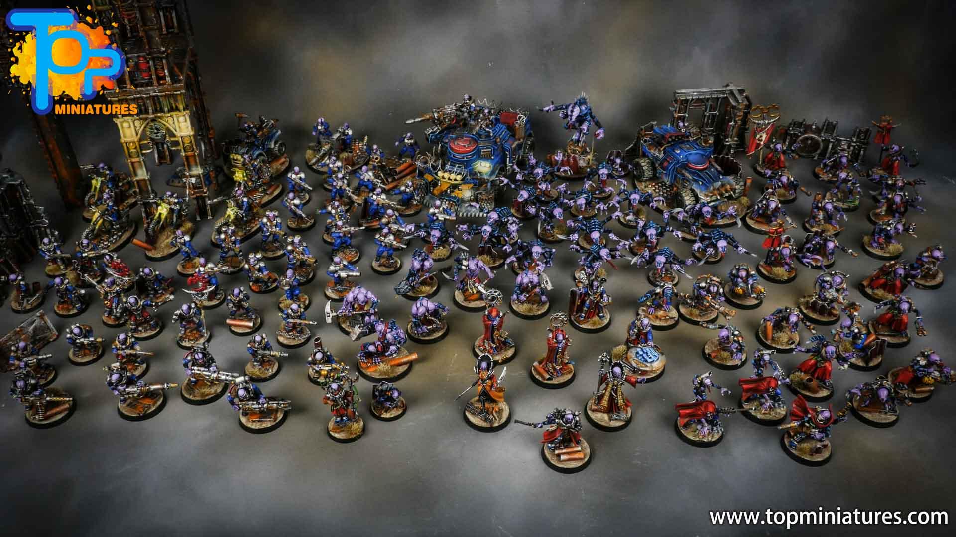 genestealer cults huge painted army (5)
