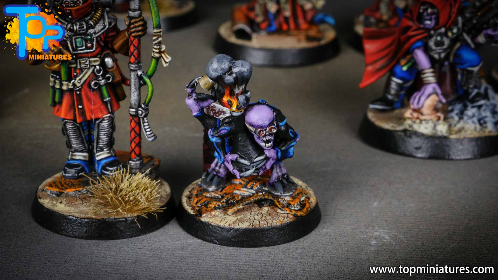 genestealer cults painted biophagus & familiar (3)