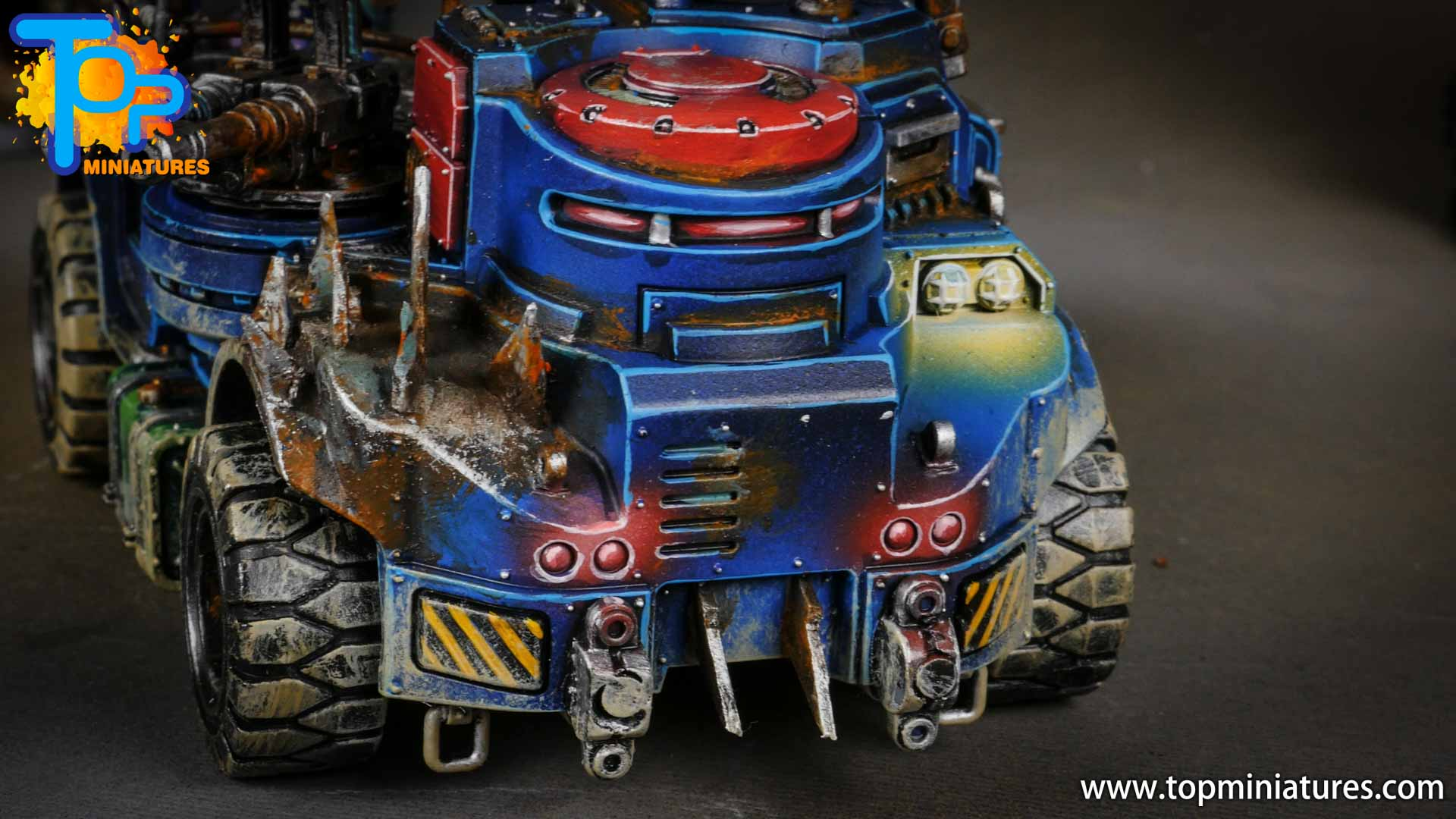 genestealer cults painted goliath truck (1)