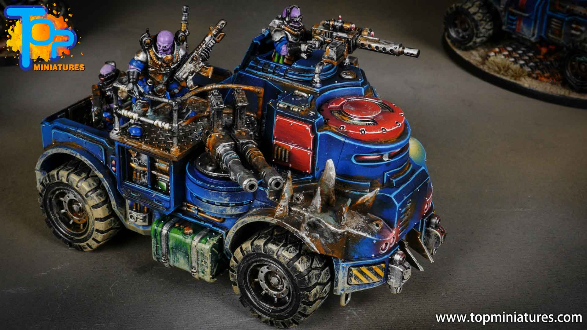 genestealer cults painted goliath truck (10)