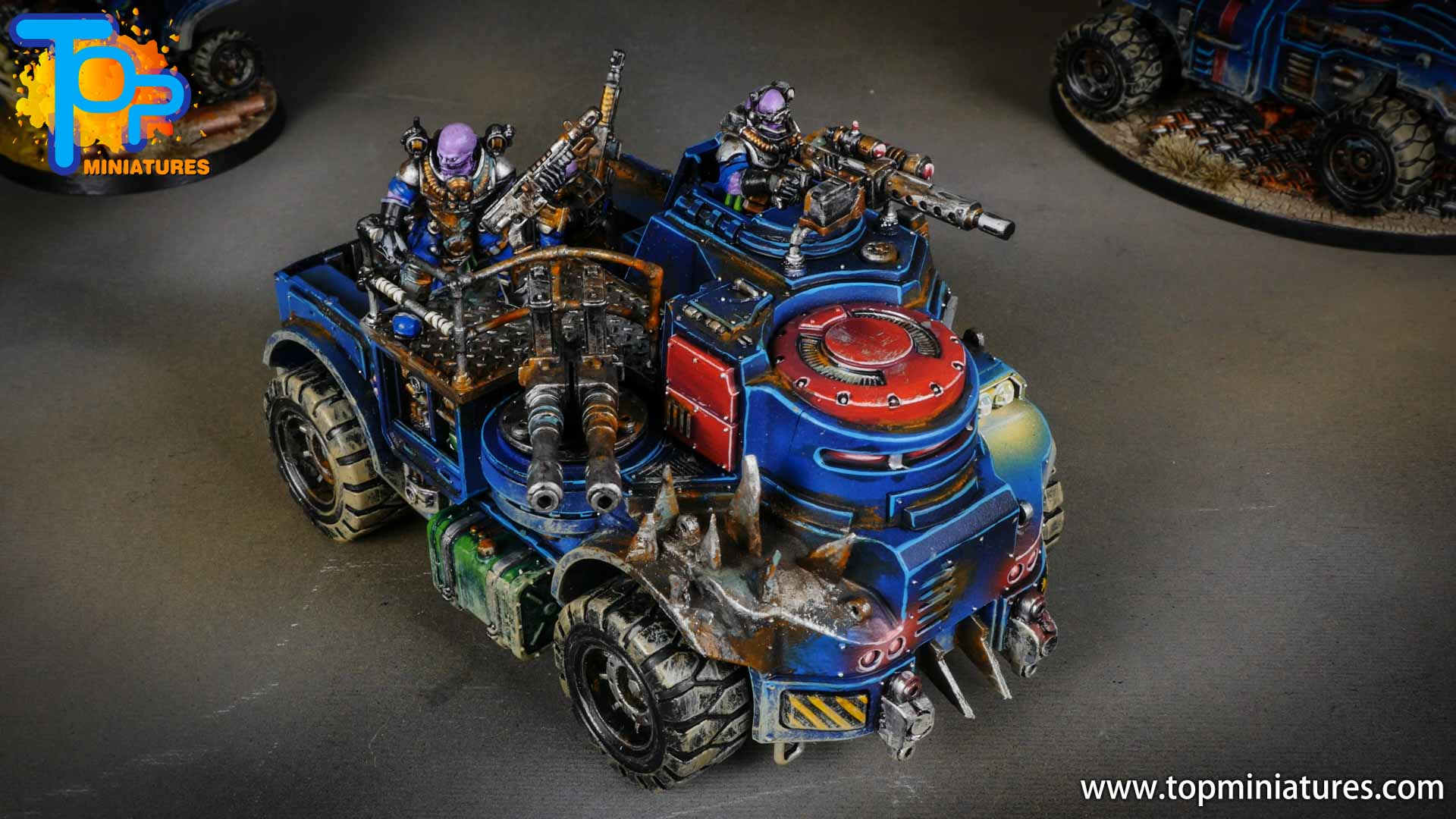 genestealer cults painted goliath truck (2)