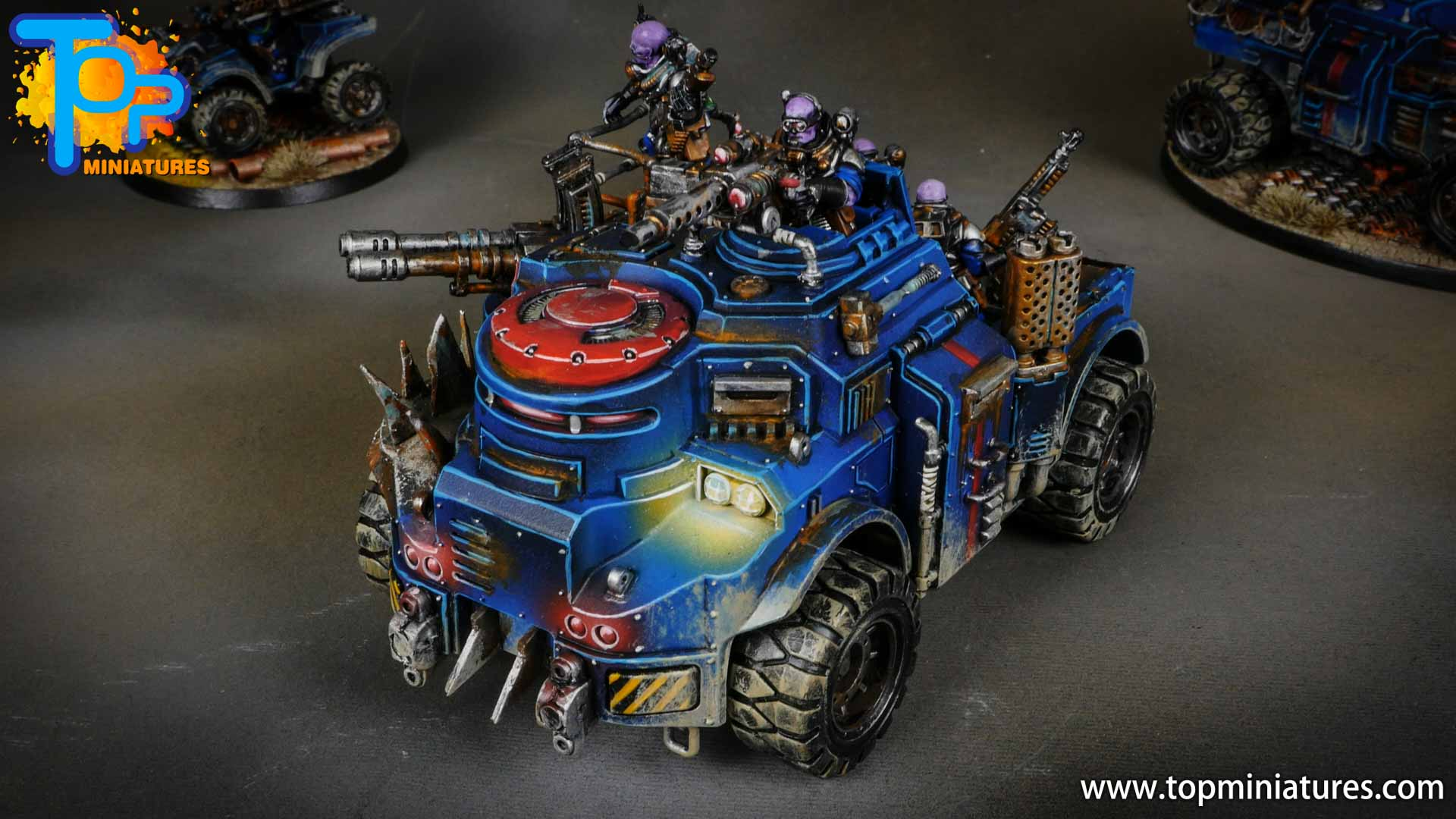 genestealer cults painted goliath truck (4)