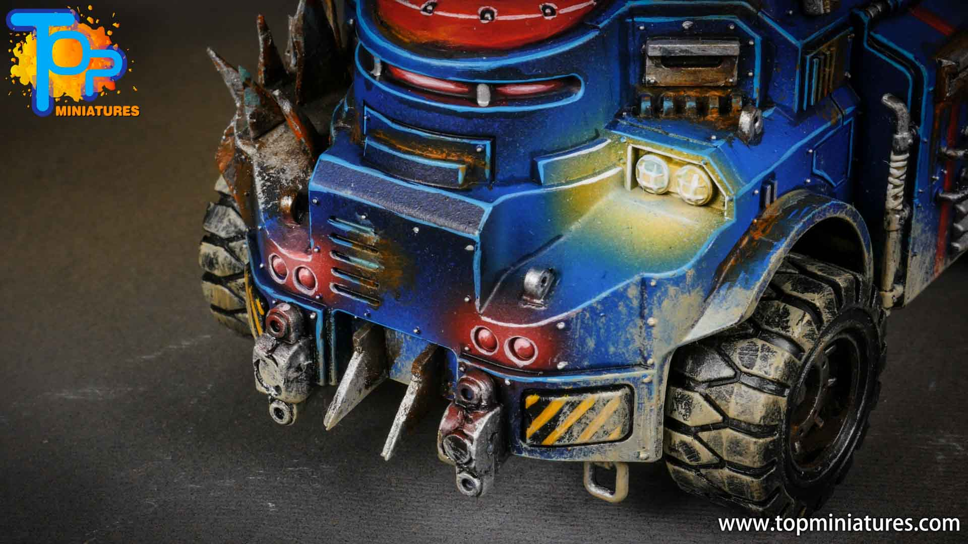 genestealer cults painted goliath truck (5)
