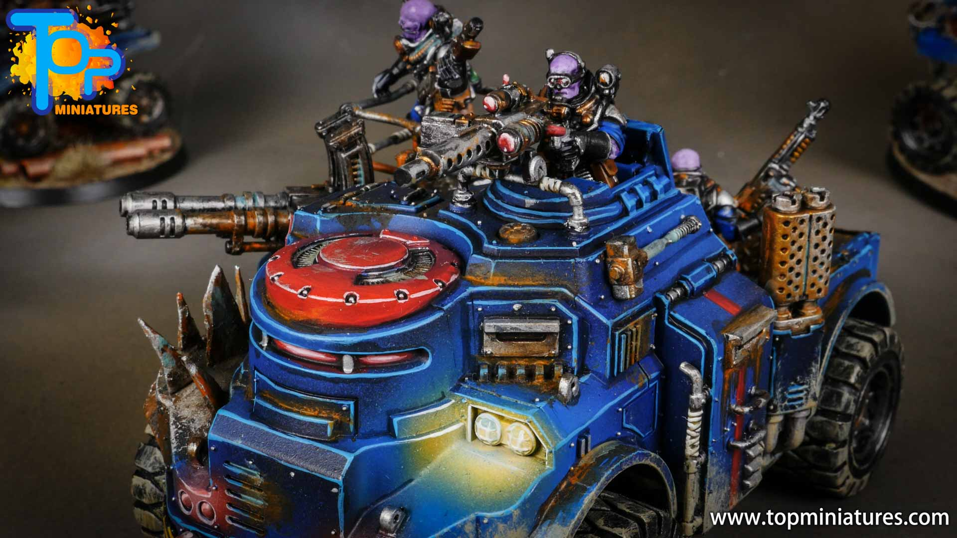 genestealer cults painted goliath truck (6)