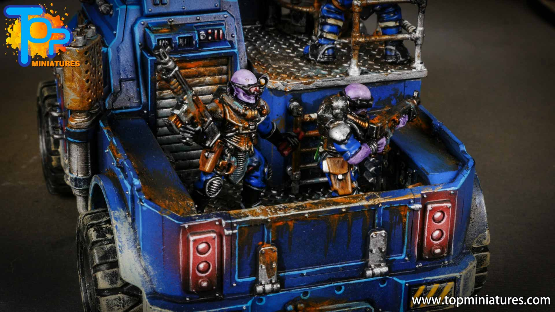 genestealer cults painted goliath truck (8)