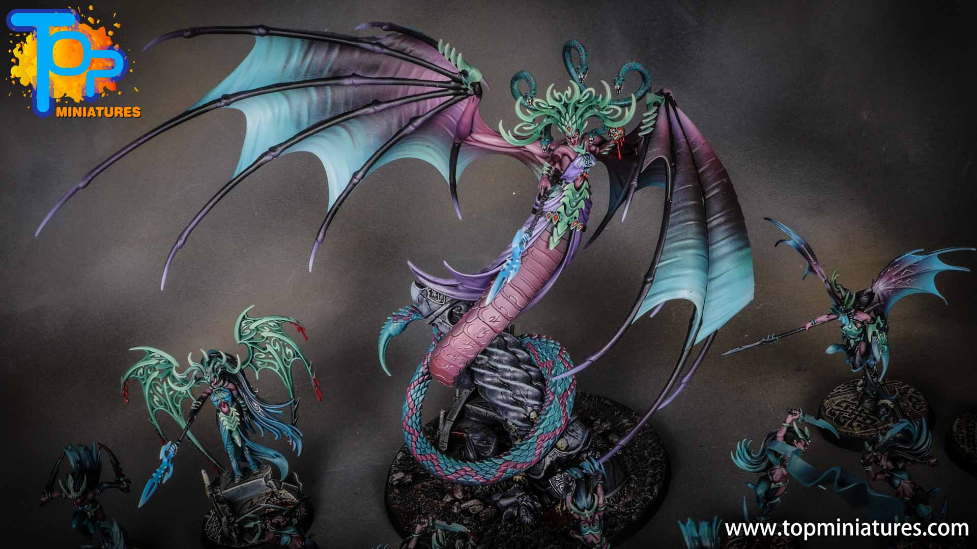 iridiscent daughters of khaine painted morathi (6)
