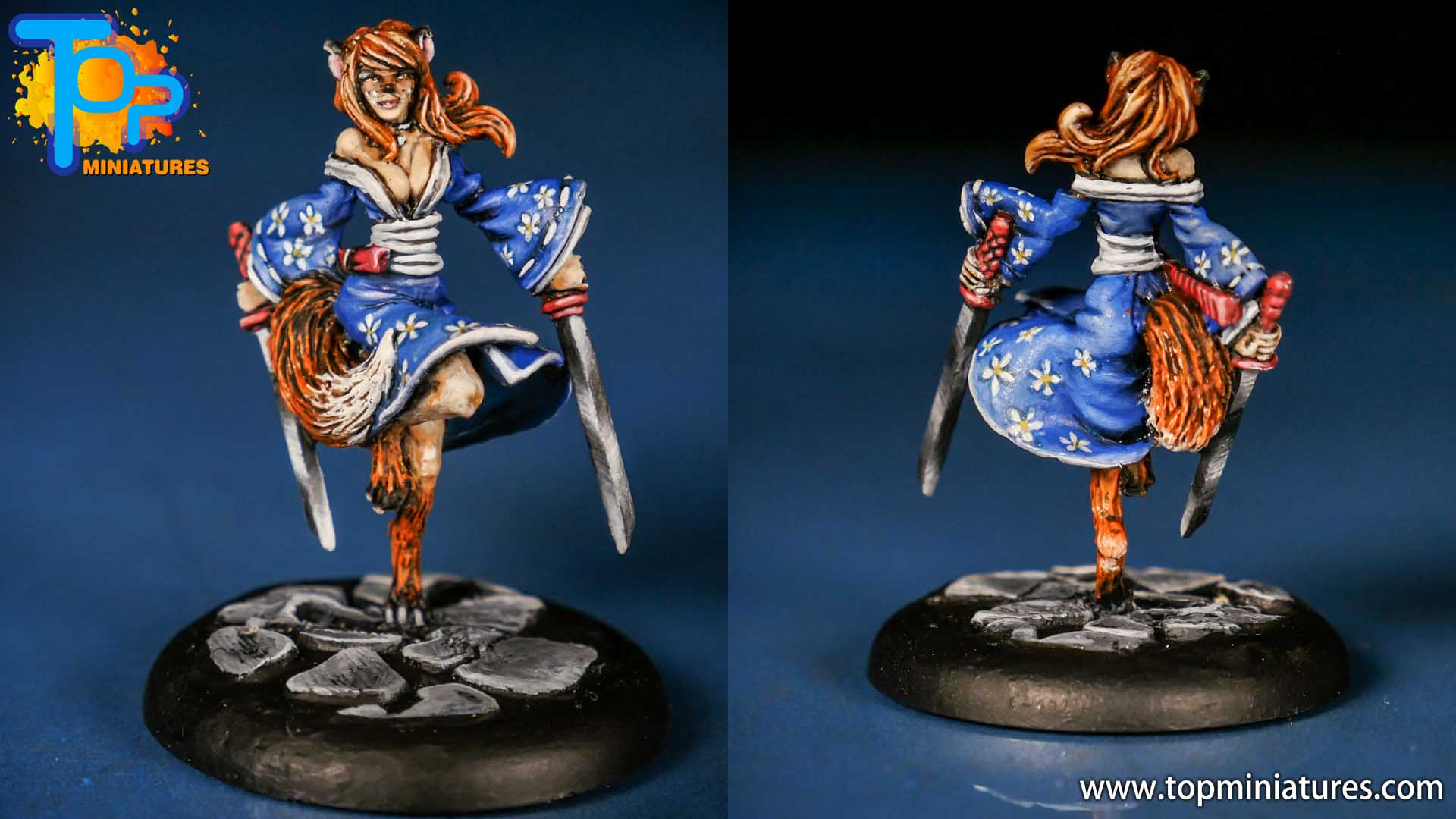 kitsune & fox form painted