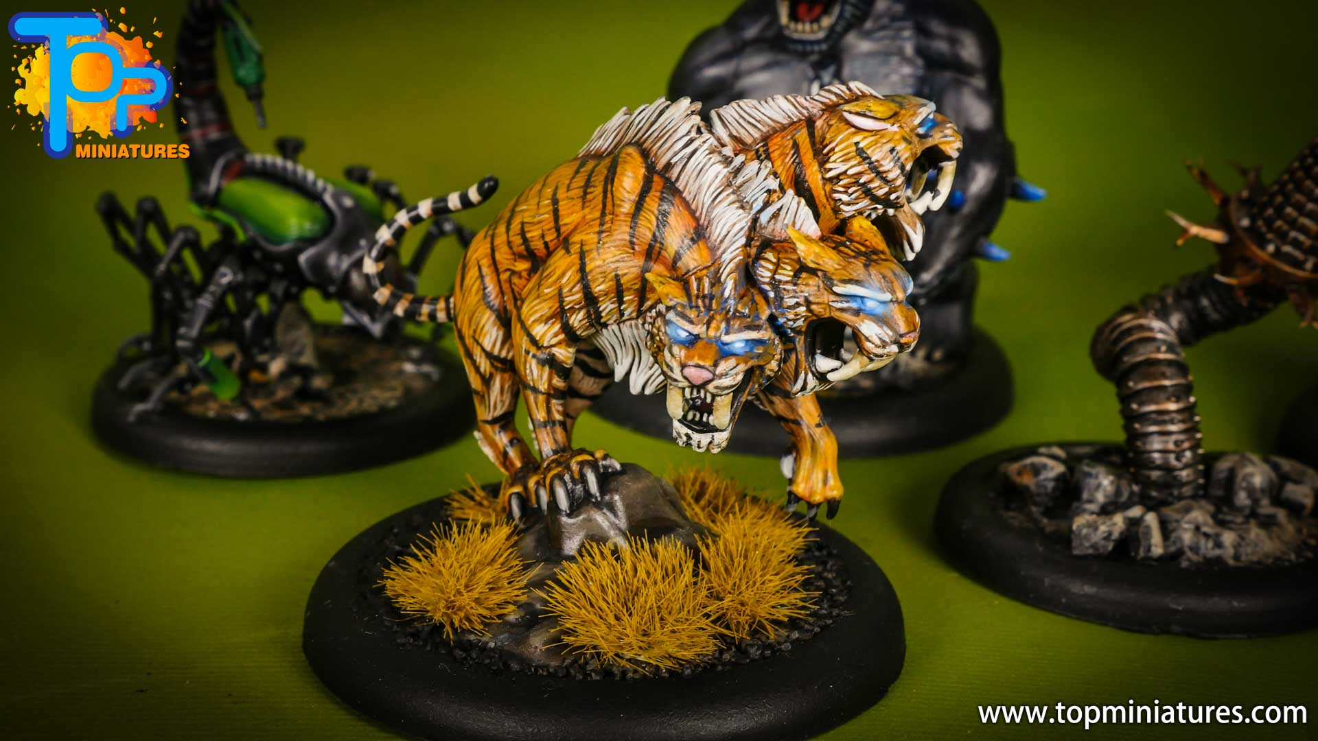 malifaux painted arcanists sabertooth cerberus (1)