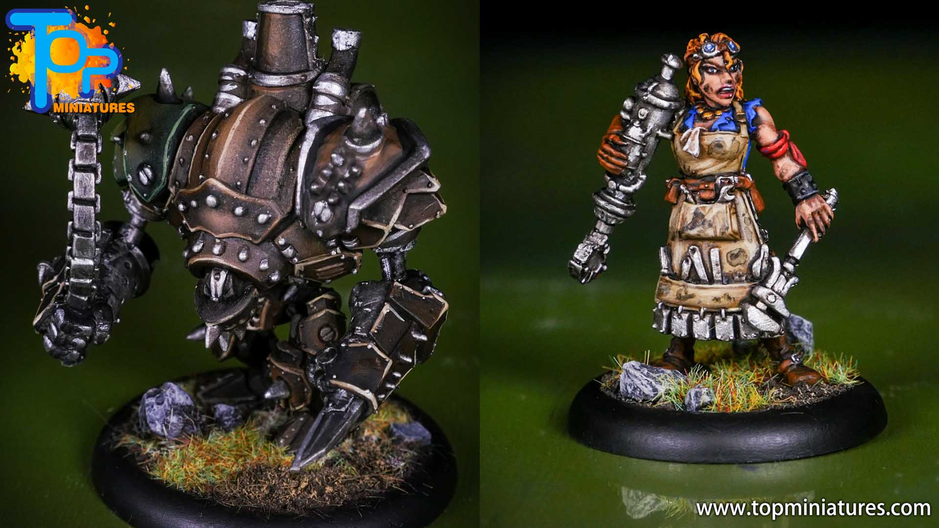 mercenaries warmachine warjack & dirty meg