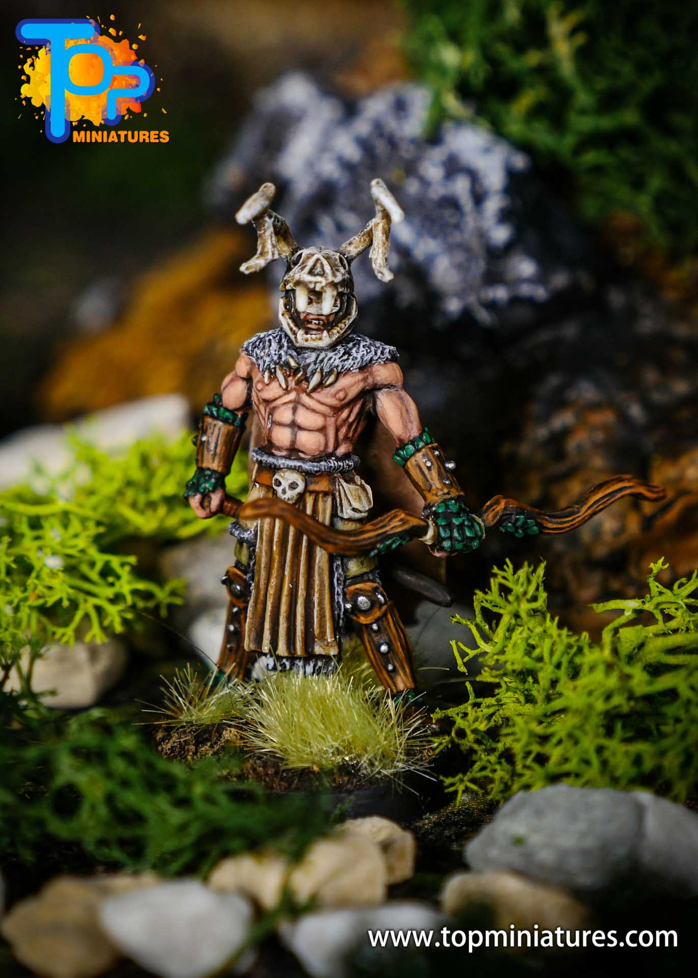 pathfinder kingmaker stag lord painted miniature (1)