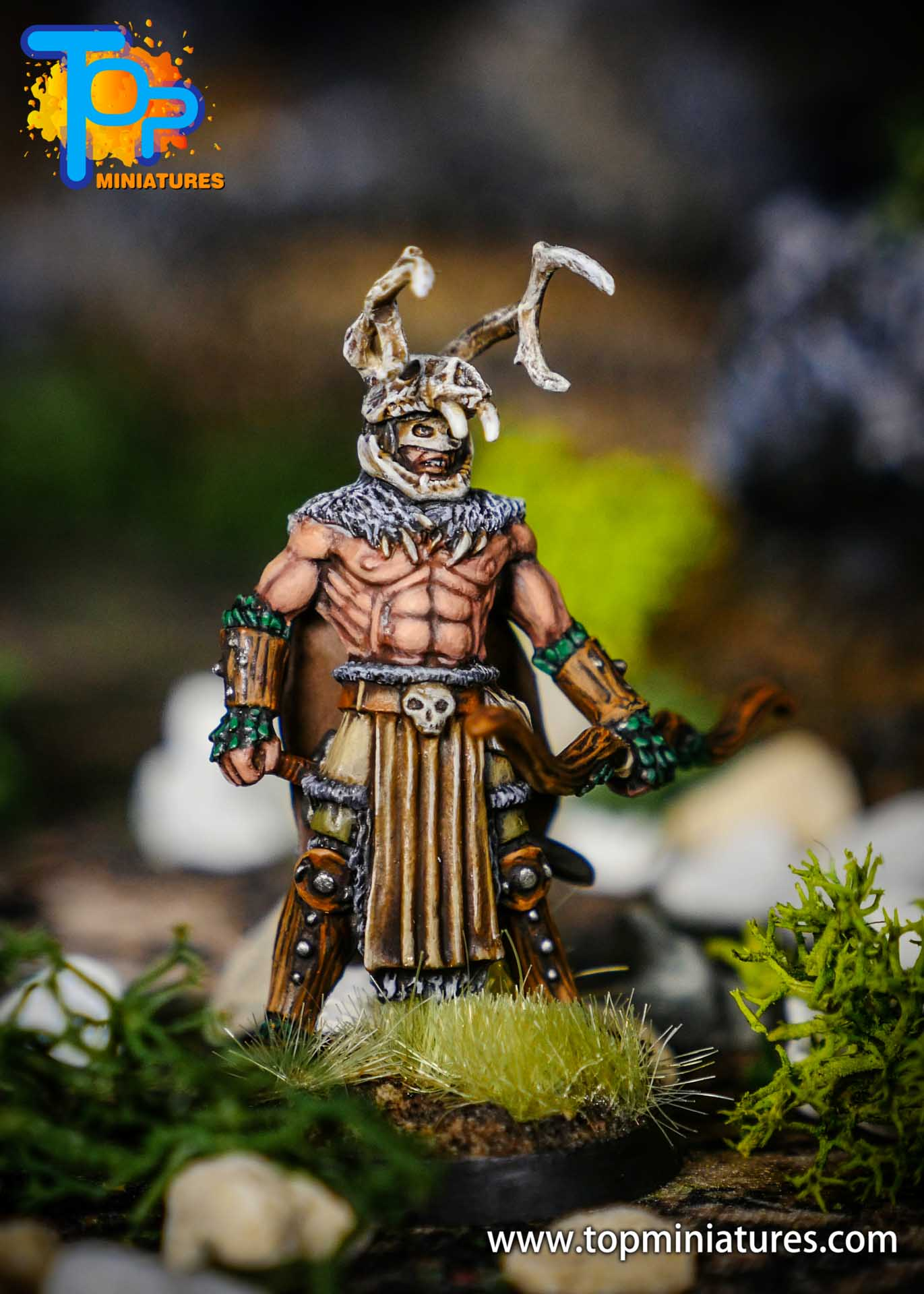 pathfinder kingmaker stag lord painted miniature (2)