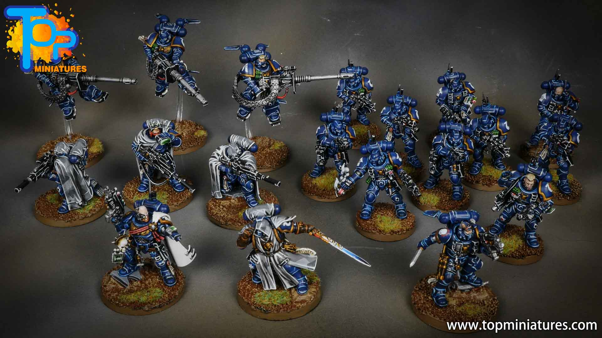 primaris ultramarines shadowspear painted set