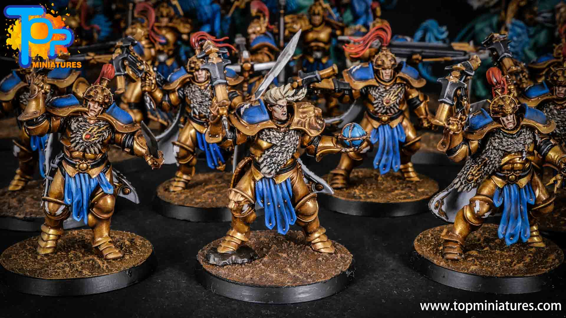 stormcast eternals painted vanguard raptors hunters (7)