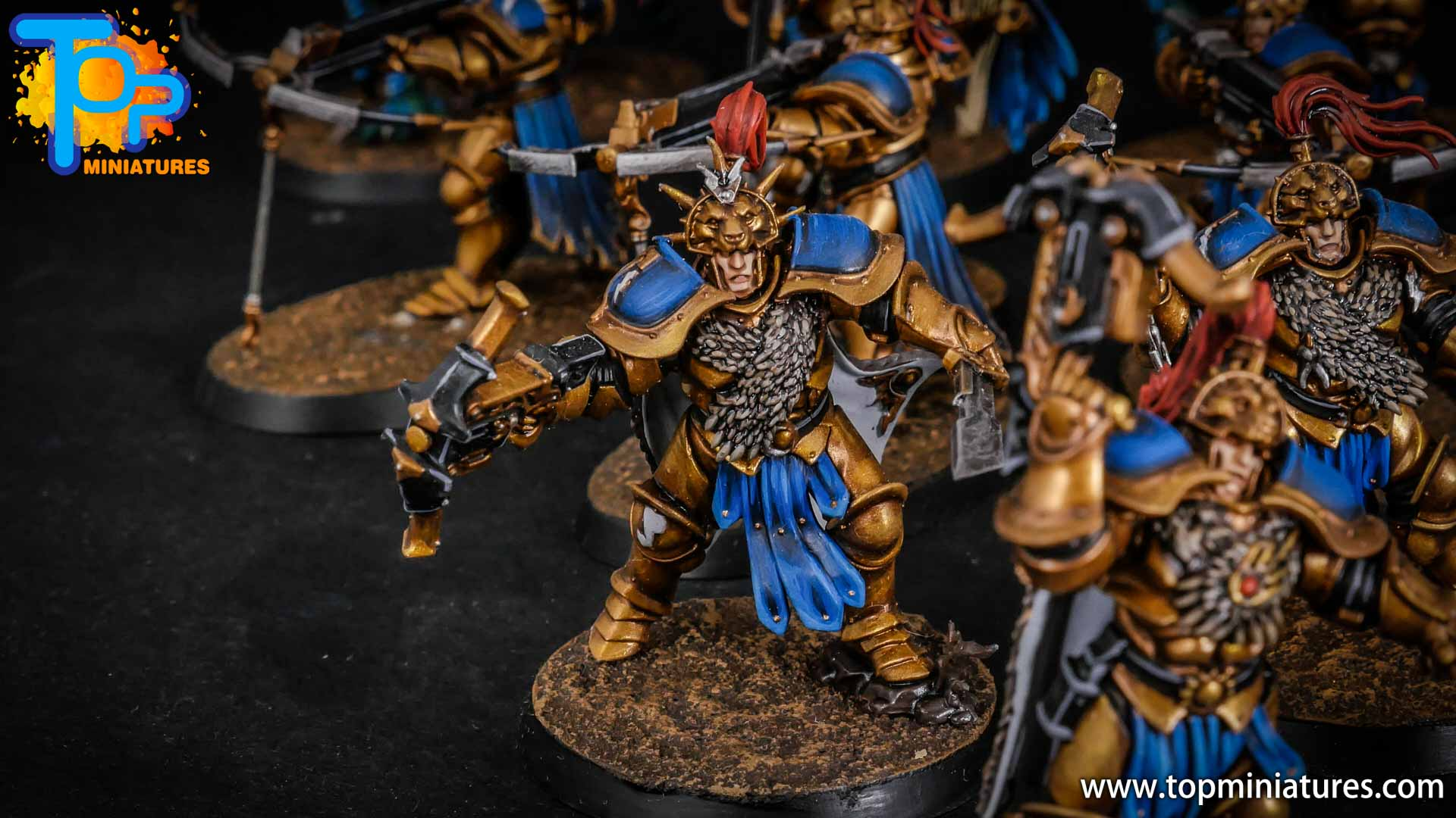 stormcast eternals painted vanguard raptors hunters (9)
