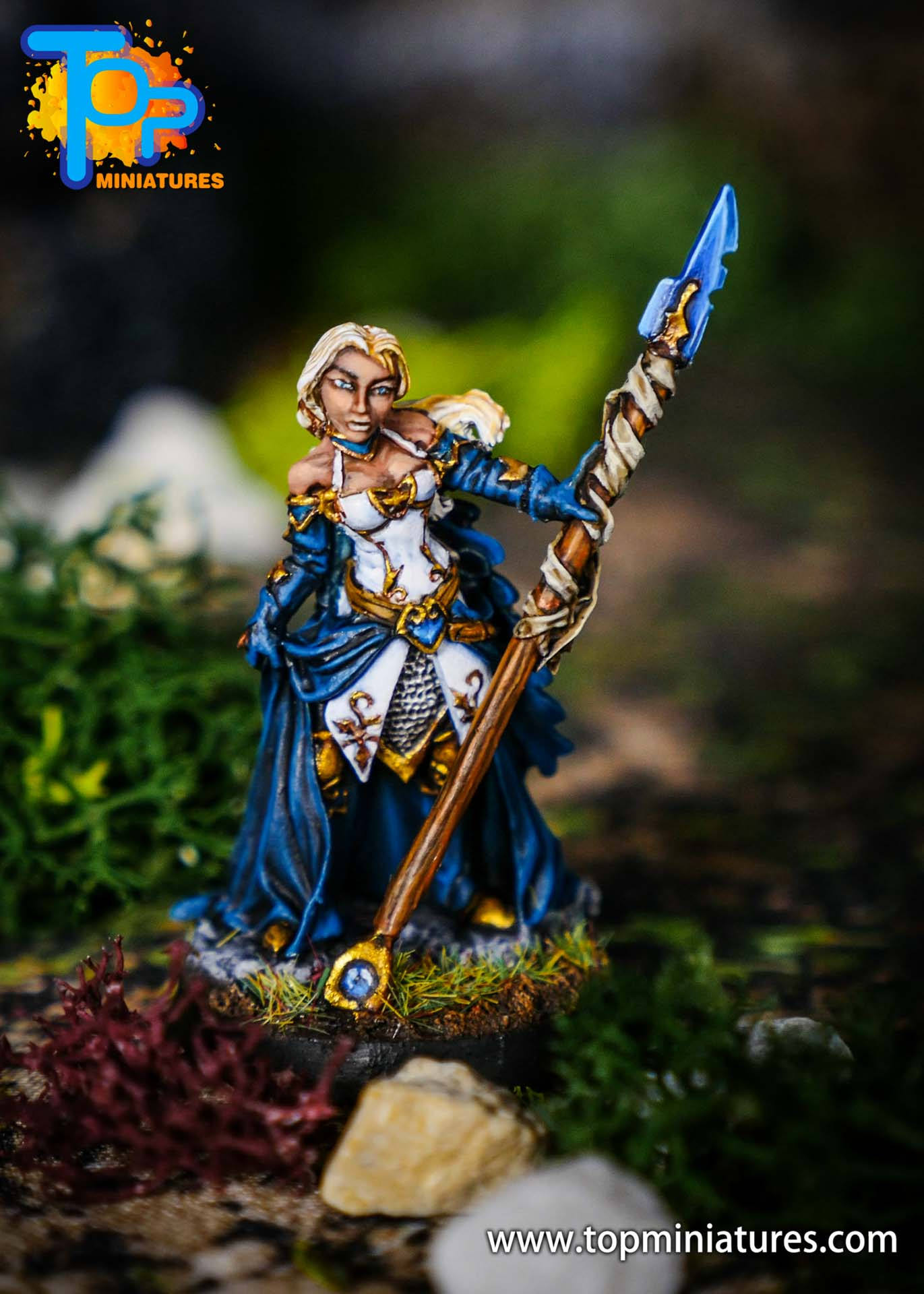world of warcraft painted jaina miniature (2)