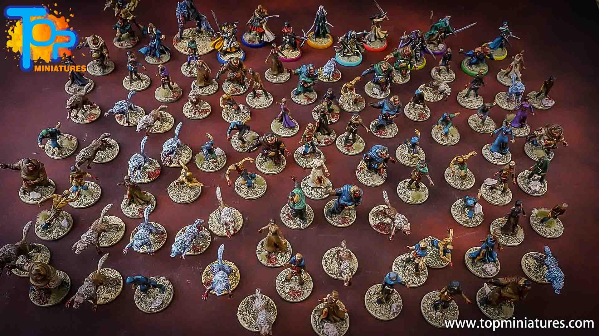 zombicide wulfsburg painted miniatures
