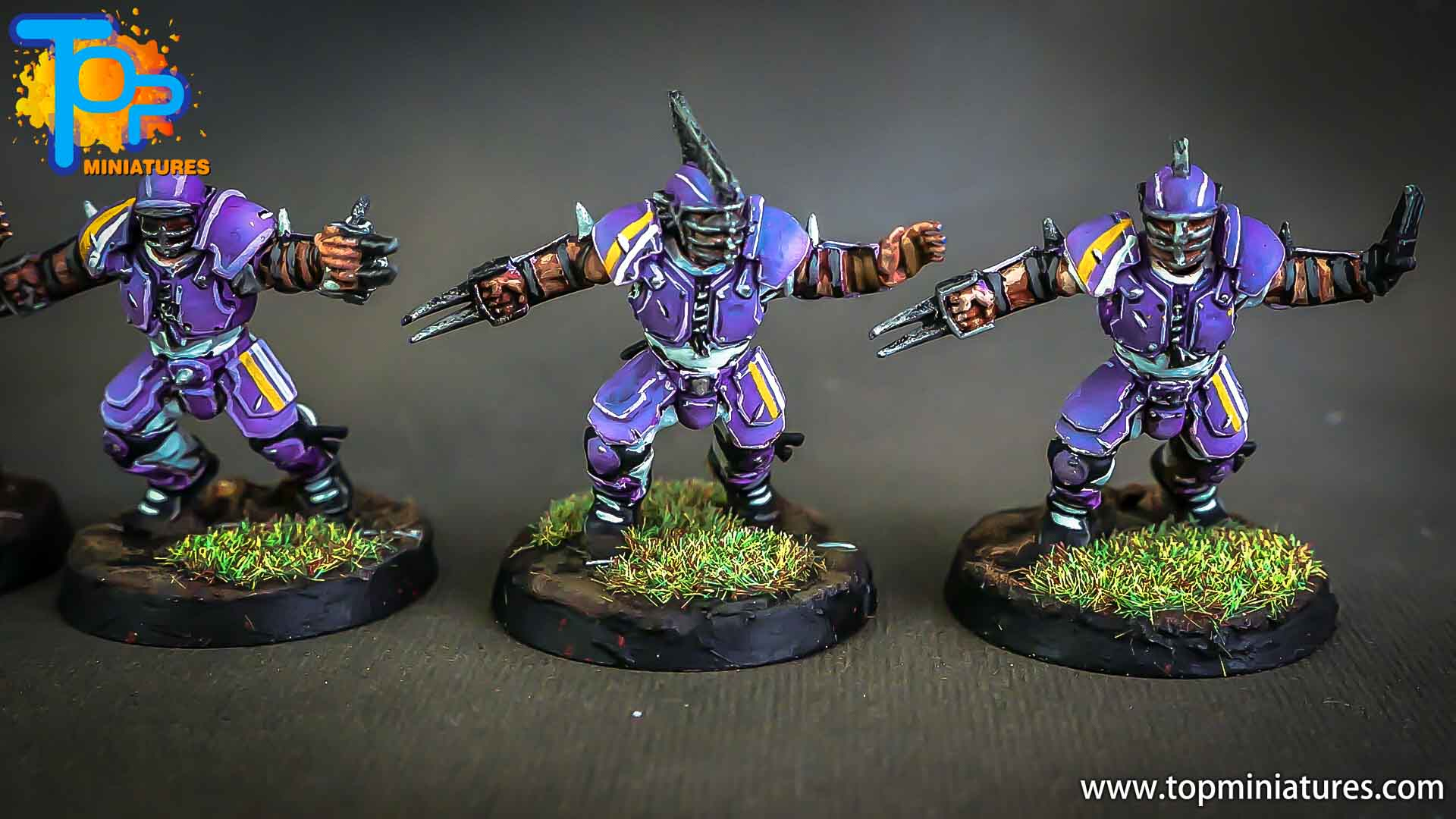 Blood bowl painted human team (13)