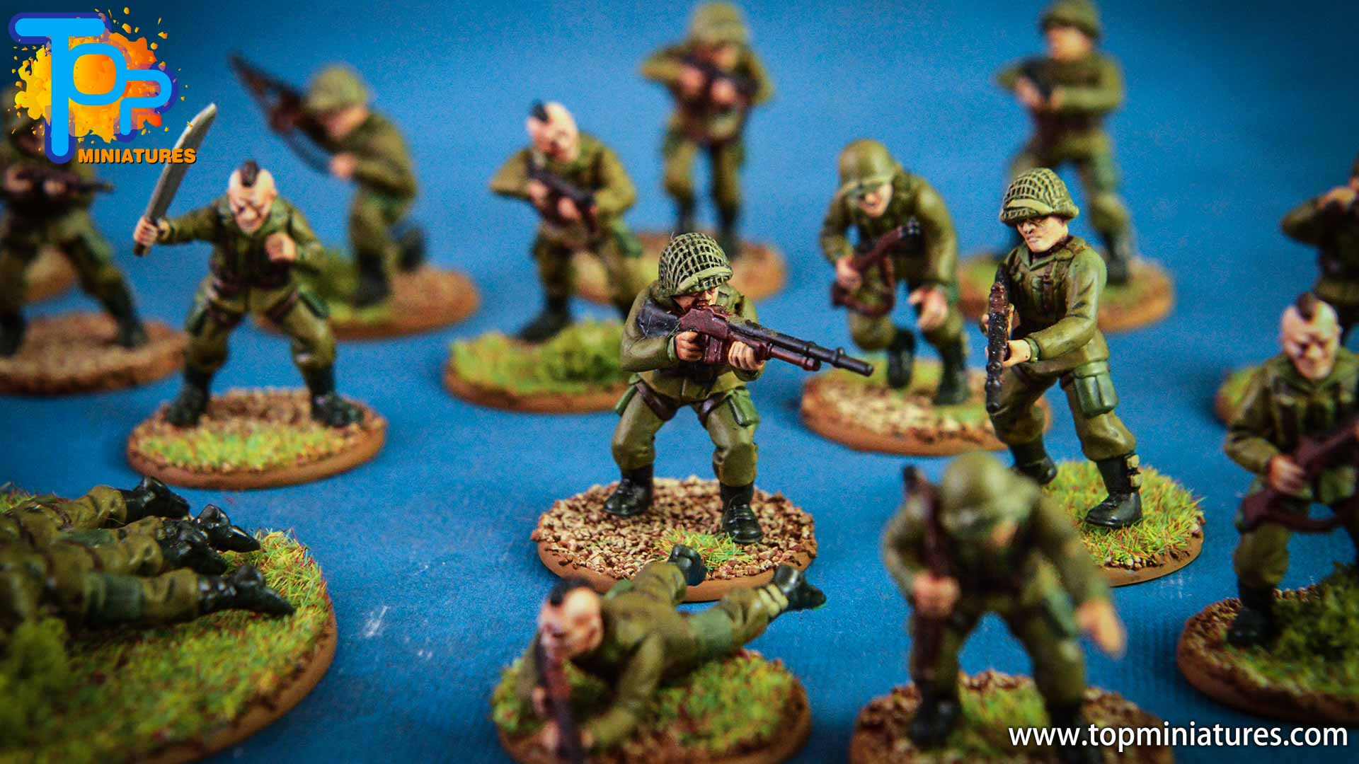 Bolt action US Airborne & German Grenadiers (4)