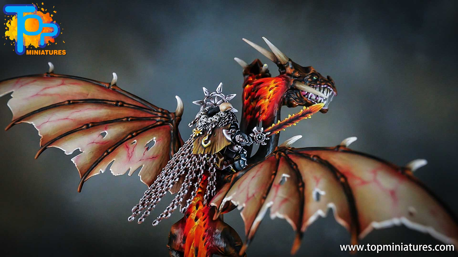 age of sigmar painted chaos dragon (16)
