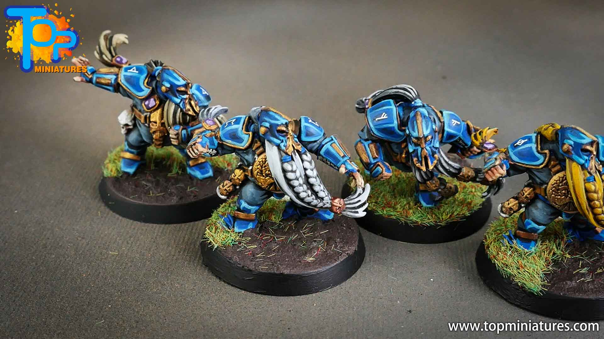 blood bowl, painted dwarfs team (4)