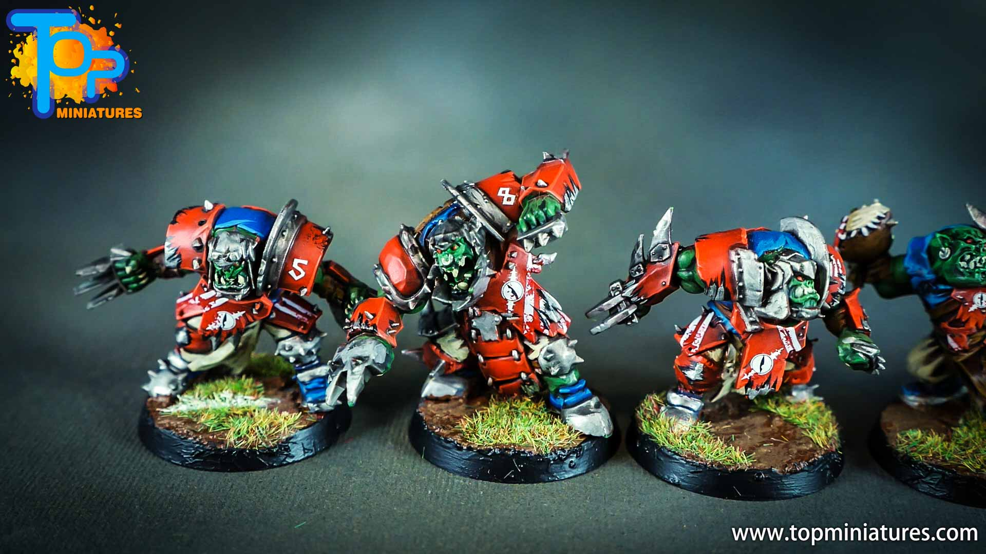 blood bowl painted orcs & goblins (7)
