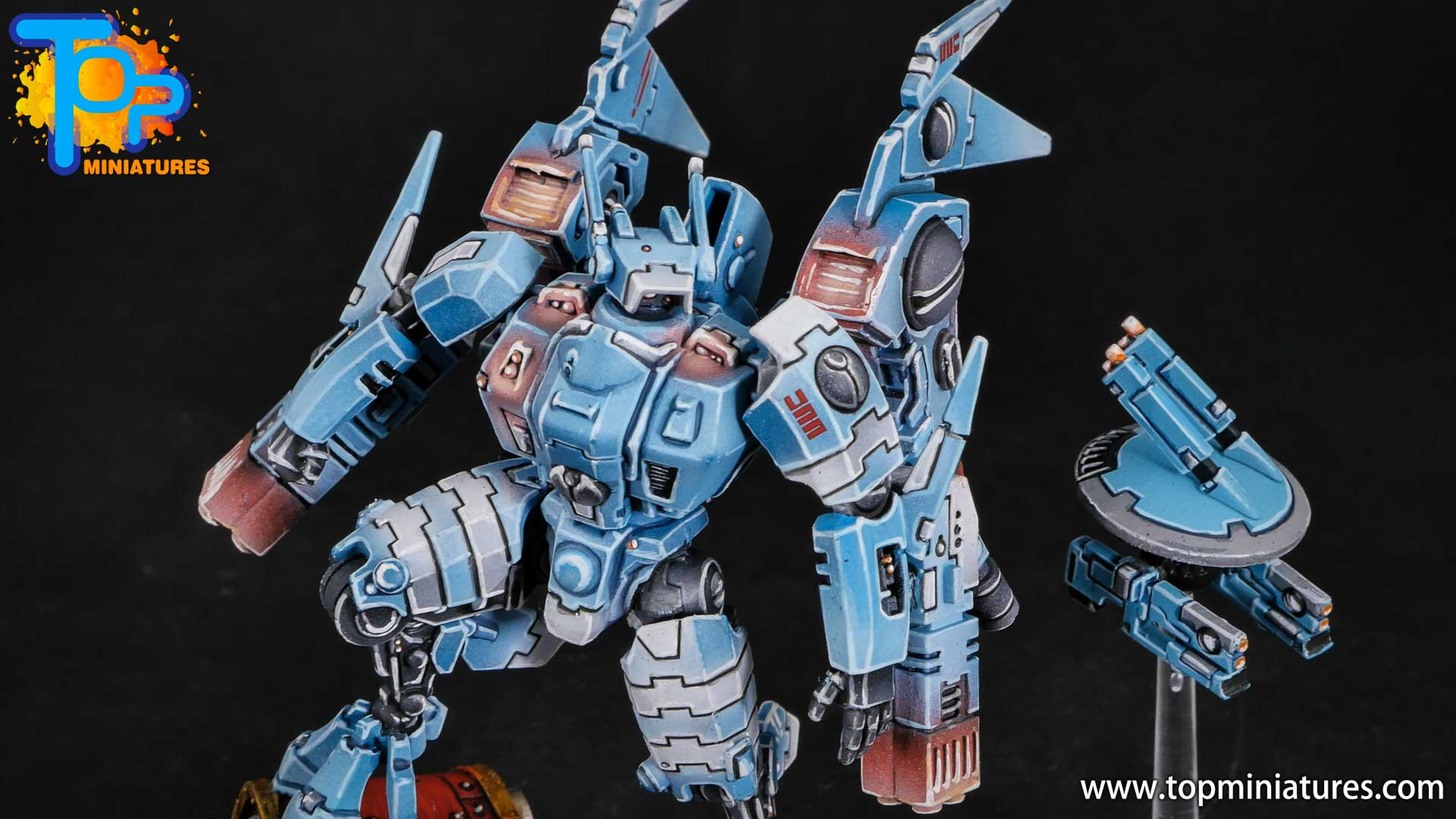 blue tau empire painted commander (1)