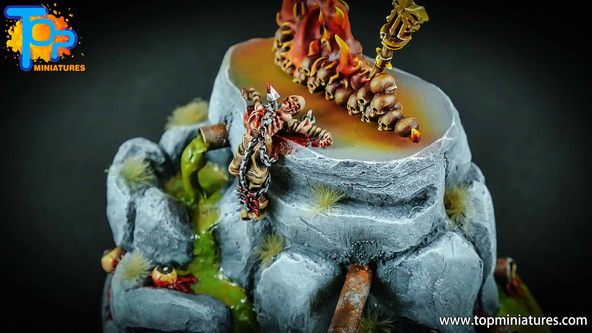 chaos daemons custom sculpted base (3)