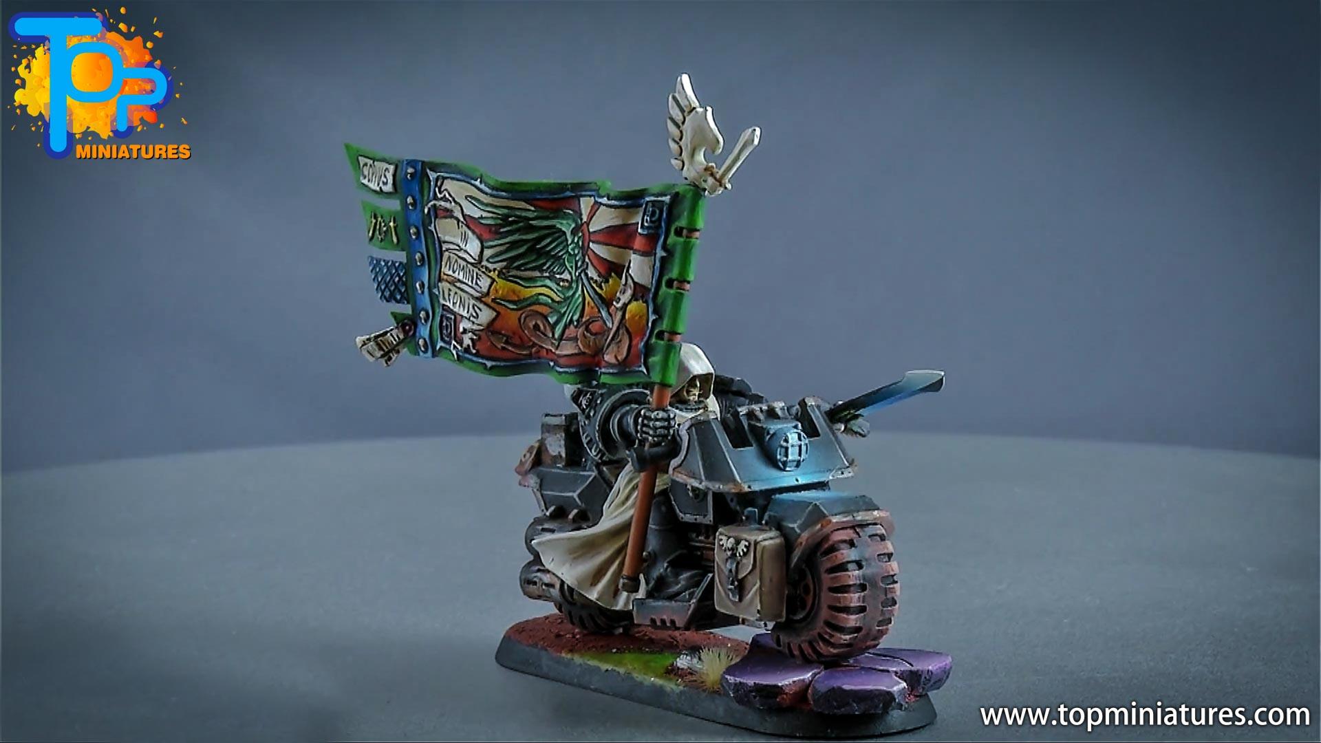 dark angels ravenwing command bike (2)