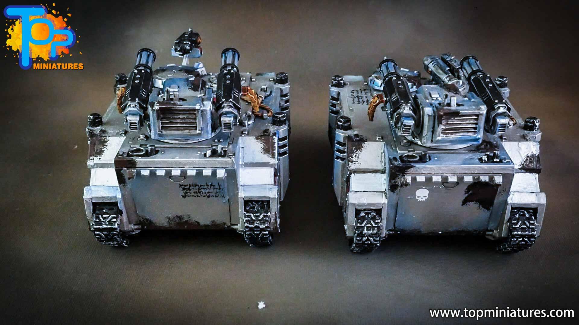 grey knights painted rhino & razorback (6)