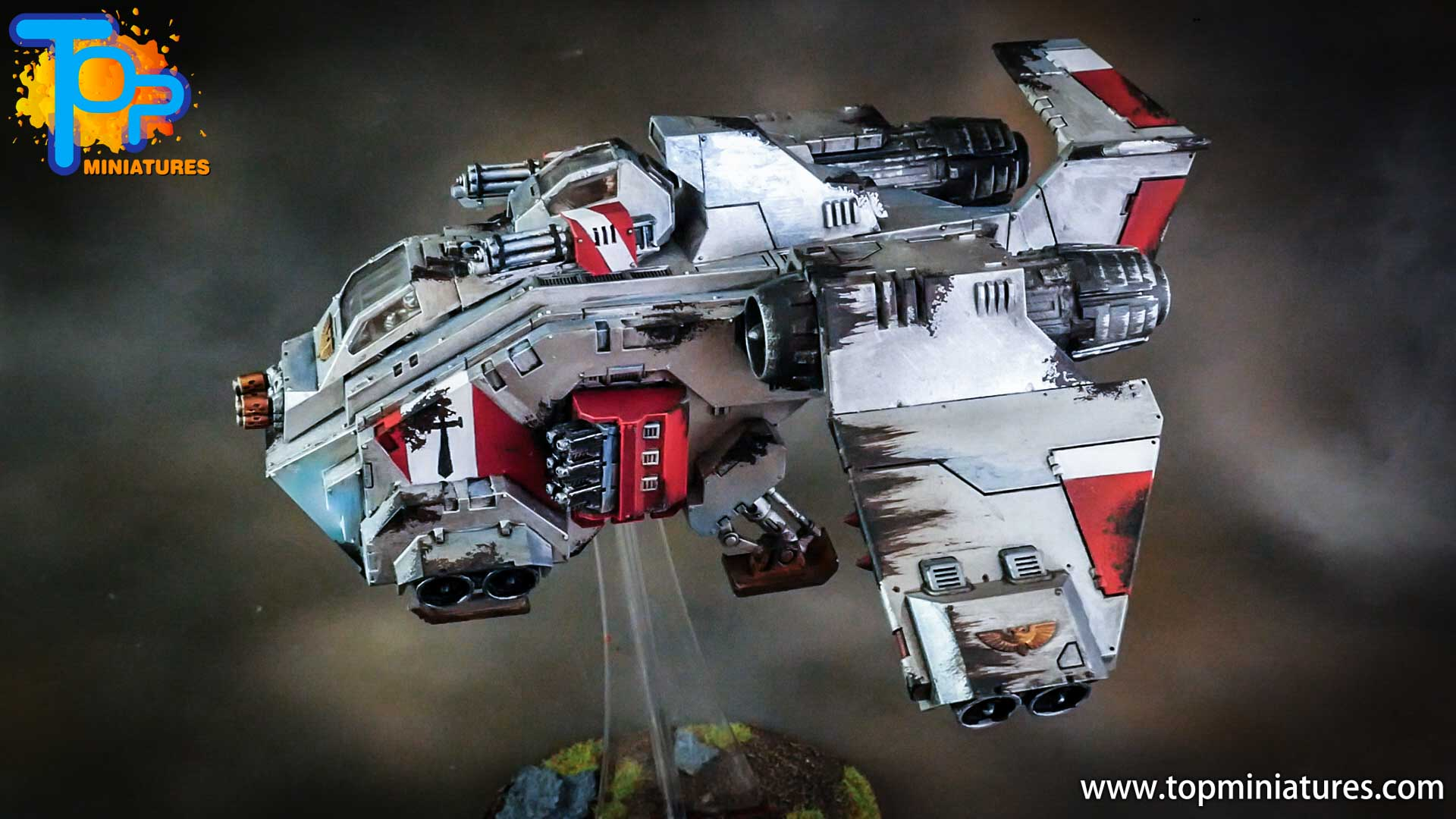 grey knights painted storm raven (1)
