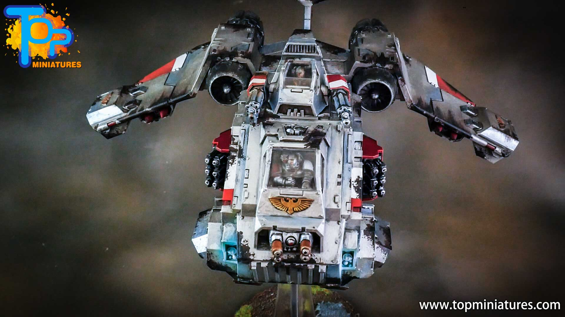 grey knights painted storm raven (4)