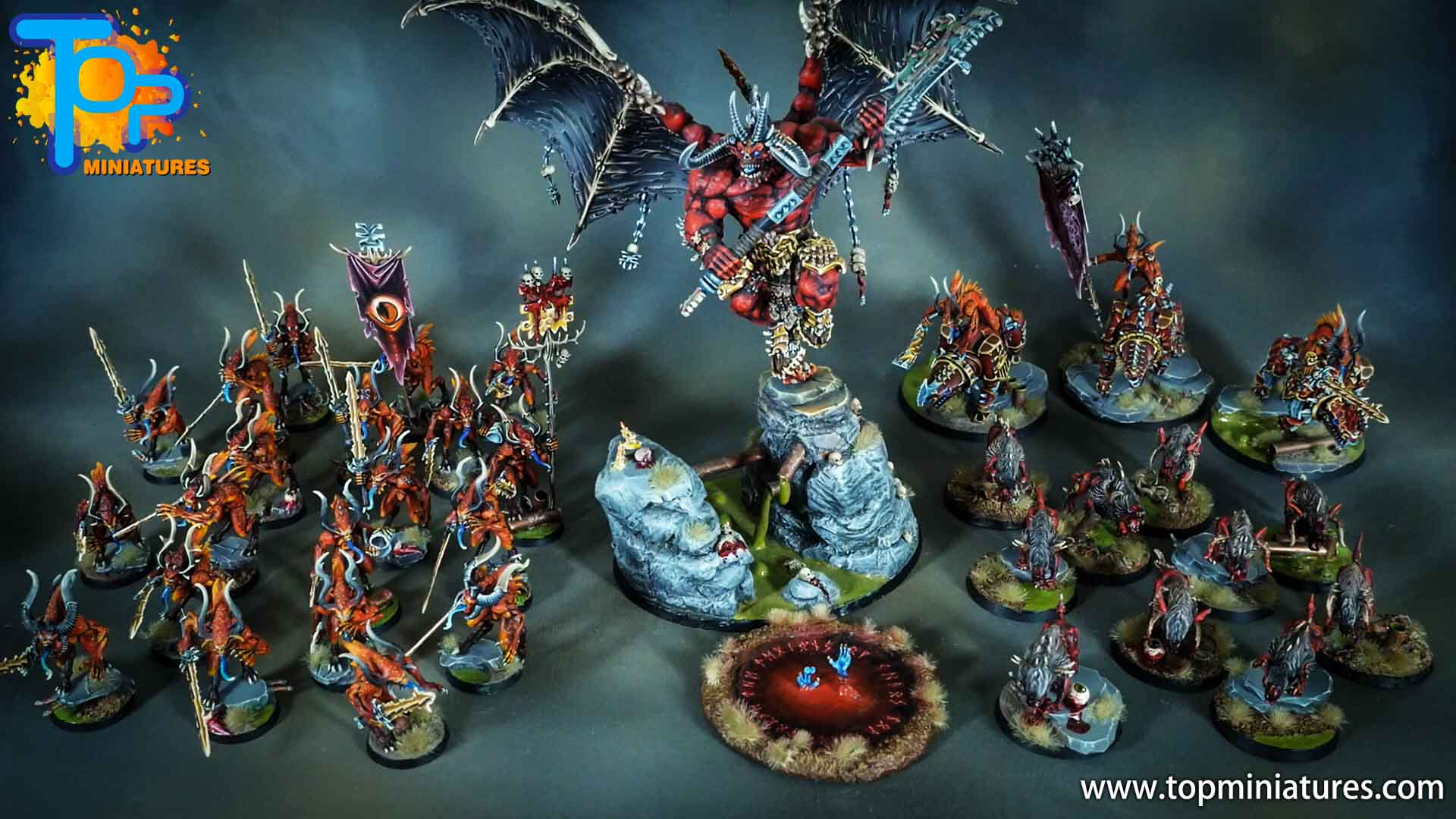 khorne bloodcrushers, bloodletters and flesh hounds - top miniatures (4)_1
